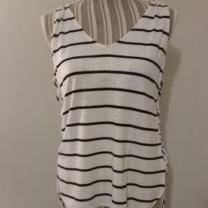 Love, Fire Striped Side Lace Up Tank Top NWT